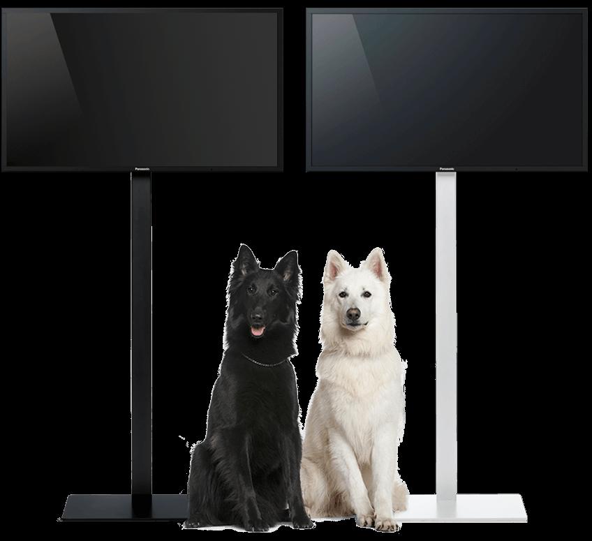tv standaard zwart wit leverbaar