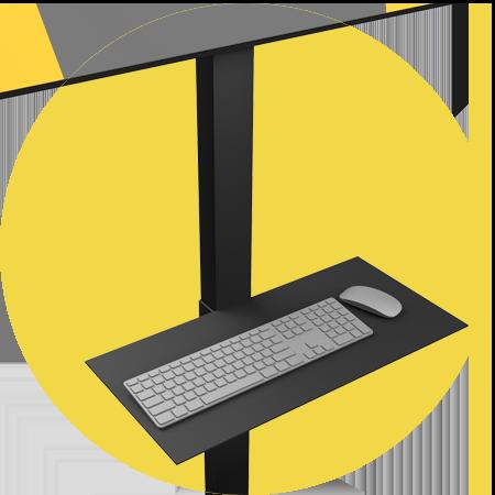 tv standaard keyboard accessoireplank