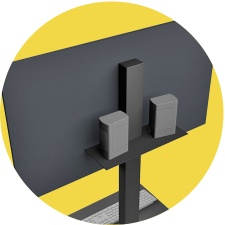 tv standaard plank voor speakers